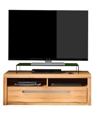 trendteam Wohnzimmer Lowboard Fernsehschrank Fernsehtisch Zino, 123 x 43 x 50 cm in Korpus Kernbuche Dekor, Front Kernbuche Massiv mit zwei offenen Fächer