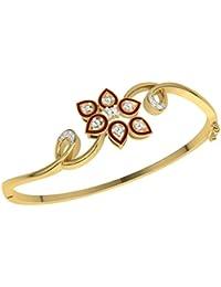 TBZ - The Original 18k (750) Yellow Gold and Diamond Charm Bracelet