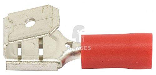 Preisvergleich Produktbild KIESUNDCO Steckverteiler teilisoliert, rot 6,3 / 0,5 - 1,5 mm² 100 Stück - PVC-Isolierung