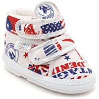CHIU Musical Flag Pattern Blue Shoes for Baby Boy & Baby Girl