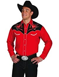 Western Express - Chemise country LineDance USA - Rouge - Homme - Taille L - 830-RED