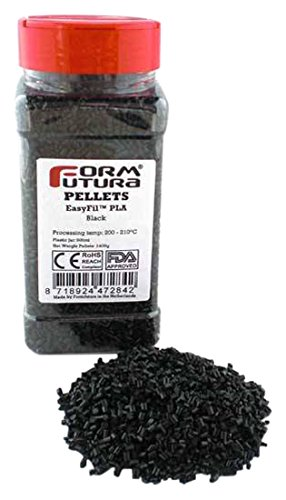 Formfutura PELEPLA-BLCK-0400 3D Printer Pellets, EasyFil PLA, Black Test