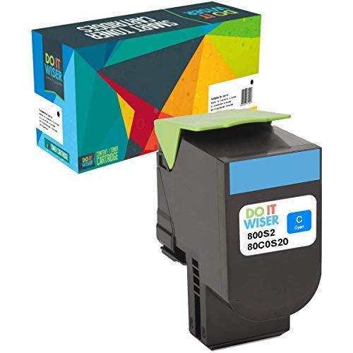 Do it Wiser Toner Kompatibel Cyan für Lexmark CX410de CX310dn CX510de CX310n CX310 CX410dte CX410e CX510dthe CX510dhe   80C2SC0 (2.000 Seiten) -