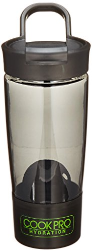 Cook Pro Tritan Shaker Bottle with Mixer Ball, 24 oz, Black