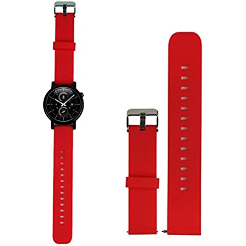 18MM 20MM 22MM Silikon Ersatz Armband Band für Huawei Withings Activité Pebble Time Pebble Time Steel Motorola 360 2nd Gen Samsung Gear 2 R380 R381 R382 LG G Watch W100 W110 Urbane W150 Asus ZenWatch Vivowatch (18MM,
