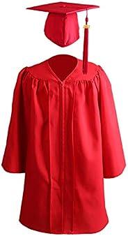 Frolada Bata Y Gorra De Graduación Para Niños M L XL XXL, Bata De Soltero Para Niños Uniformes Escolares Niño