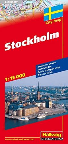 Stockholm Stadtplan 1:15 000: Zentrum, Verkehrsplan, Index, Transit (Hallwag Stadtpläne): Alle Infos bei Amazon