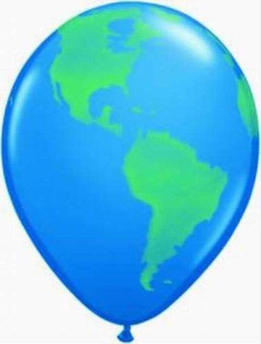 Luftballons Globus, Qualatex, 30 cm Durchmesser, 10 Stück