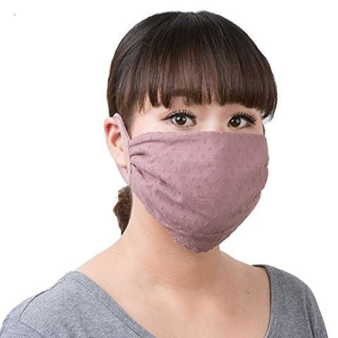 GWDZX Masques Masques Respirants Dames Automne Et Hiver Dentelle Coupe-vent Anti Poussière Chaud (un Paquet De Deux),A-21.5*14.5cm