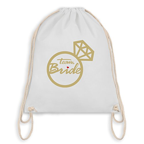 Jga Hen Party - Team Bride - Diamond Ring - Borsa Da Palestra I Gym Bag Bianca