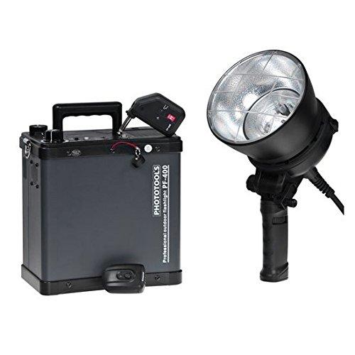 Nice Flash Batterie Generator PF-400 Flash Kit mit einem Blitzkopf - Akkugenerator für die Verwendung OnLocation -