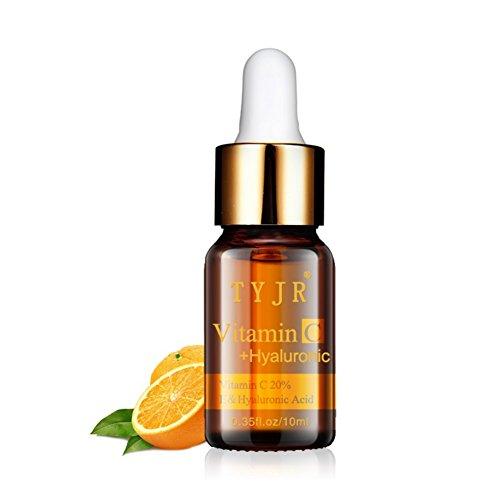 Vitamin C Facial Serum Oil,Allouli Anti Ageing & Anti Wrinkle Serum Skin Care Whitening Face Anti Winkles Essence with Hyaluronic Acid