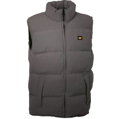 Caterpillar Quilted insulated Vest Herren Steppweste Weste Schwarz-gelb Marineblau