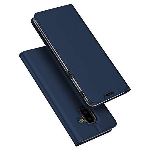 DUX DUCIS Cover Galaxy J6 Plus,Flip Folio Case,Funzione Stand,1 Slot Carte,Magnetica,Ultra Slim Custodia per Samsung Galaxy J6 Plus (Blu)