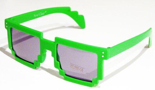 Preisvergleich Produktbild Sonnenbrillen Retro Pixel Style Grün