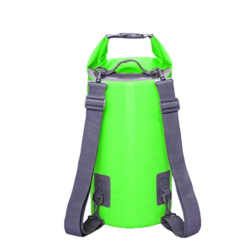 Baijiaye Bolsa estanca Impermeable Bolsas Secas Impermeable Seca PVC para Playa y Deportes al Aire Rafting Kayak Senderismo Canotaje Esquí Pesca Escalada 1# Verde 20L