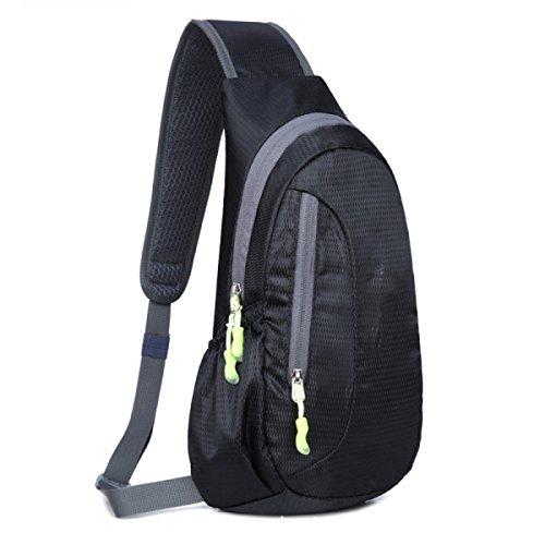 BULAGE Tasche Brusttasche Kreativ Männer Und Frauen Im Freien Sport Diagonal Wandern Reisen Persönlichkeit Wasserdicht Kratzer Freizeit Black