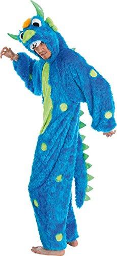 Blau Erwachsene Kostüm Monster Für - Chaks c1090180, Kostüm Plüsch Monster blau Luxe, Erwachsene