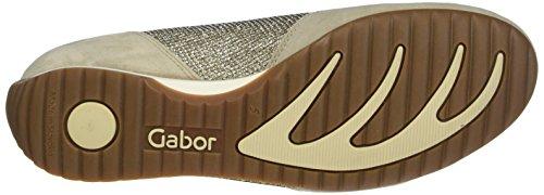 Gabor Shoes Comfort, Scarpe da Ginnastica Basse Donna Beige (argent/silk/mutaro 41)