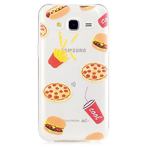 MUTOUREN 2017 Serie> Samsung Galaxy J5 (2015)> TPU protector funda de silicona transparente [Fusión] [Técnica de Reducción] [cubierta de polvo se adjunta] 360 proteger el teléfono de daños> hamburguesa con cola de KFC