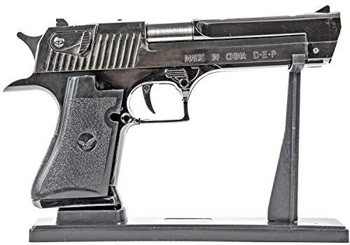 Powerfiller Feuerzeug Pistole aus Metall großes Gasfeuerzeug Amerikanische realistische Pistole mit Ständer und Scheide Maßstabs-Getreu -
