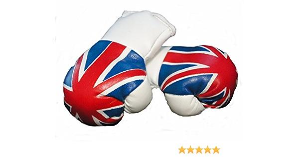 Mini Boxhandschuhe Großbritannien Vereinigtes Königreich United Kingdom Uk Union Jack 1 Paar 2 Stück Miniboxhandschuhe Z B Für Auto Innenspiegel Auto