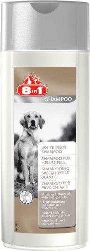 8in1 Shampoo für Hunde (Farbintensivierung von hellem und weißem Hundefell), 250 ml Flasche