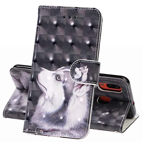 TRBOL Handyhülle Galaxy M20 Tasche Flip Case Cover Schutzhülle [Premium Leder] [Standfunktion] [Kartenfach] Leder Brieftasche für Galaxy M20 (3) (Telefon-kasten-galaxie-3)