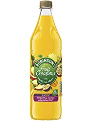 Robinsons Fruit Creations Exotic Pineapple Mango and Passion Fruit Squash, 1 Litre