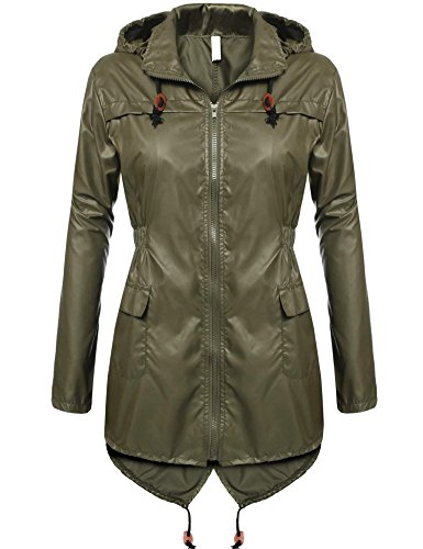 Meaneor Chaqueta Lluvia Mujer Impermeable Plegable