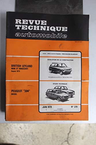 Revues techniques juin 1978 n°379 Peugeot 304 Diesel