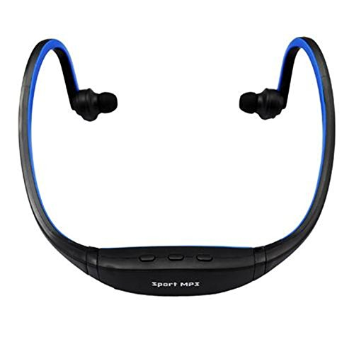 Futaba Wireless Sports MP3 Music Player for Gym Running Jogging - Blue