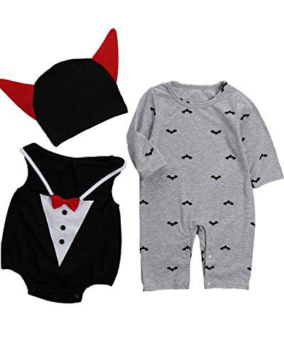 Kidsform Baby Junge Langarm Cosplay Halloween Karneval Bodysuit Jumpsuit Set Style 3 12-18Monate