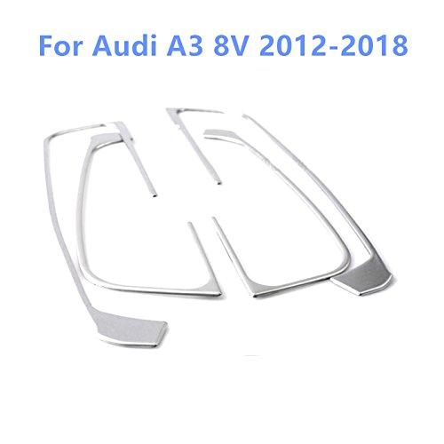 Per A3 8V 2012-2018 Striscia copertura bracciolo portiera interna in acciaio inox, 4 pezzi