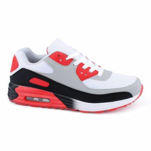 Schwarz Lauf Dämpfung Damen Unisex Grau Rot Schnür Sportschuhe Low Berlin Herren Schuhe Fitness Sneaker W Top Freizeit wqIOfv0d