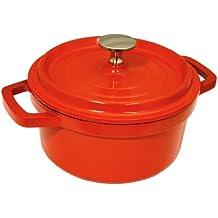 Baumalu 386139 - Cacerola de hierro fundido (24 cm), color rojo