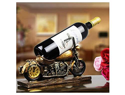 JIUJ Zweirad-Motorrad Einfache Ausstellungsstand Rotwein Regal, Dekorationen Weinschrank Set Tisch Kleine Ornamente,Kreativ,Weinregal -