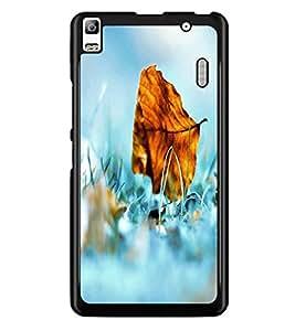 PrintDhaba Leaf D-2401 Back Case Cover for LENOVO A7000 TURBO (Multi-Coloured)