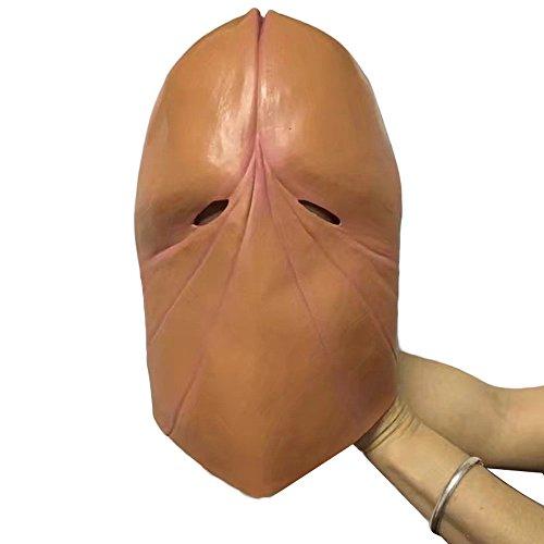 Hunde Kostüm Streich - QHJ Halloween Kostüm Party Maske Penis Dick Kopf Latex Maske Streich Party Kostüm Junggesellenabschied Halloween Witz Geschenk Helloween Kostüm Party (C)