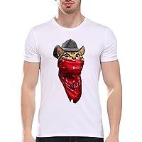 Hombre Camisas,Sonnena ❤️ ❤️ ❤️ Los hombres imprimieron la blusa de manga corta de la camiseta de la camisa de las camisetas casual y moda ropa de Actividades al aire libre (ROJO, L)