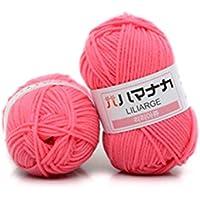 Mogustore 1 Gruppe Baumwollgarn, komfortabler Wollmischgarn Kleidung Nähfaden handgestrickter Schal Mütze Thread, roter Vorabend
