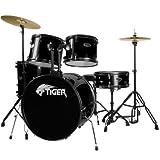 Tiger DKT28-BK Tiger 5-teiliges Schlagzeug Set - Schwarz