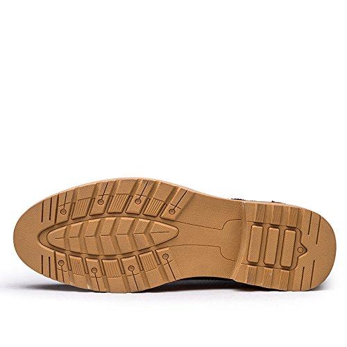 WZG Die neuen Herrenschuhe geschnitzt Bullock populär jungen britischen Stil Männer business casual Schuhe Lederschuhe Gezeitenschuhe schwarz 9.5 Brown