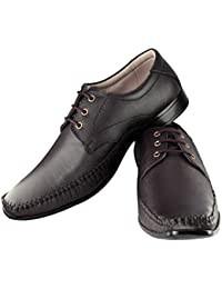 Tapps Men's Genuine Leather Formal Shoes(Brown)Lace Up