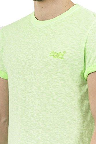 Superdry Herren T-Shirt Orange Label Low Roller Tee Grün
