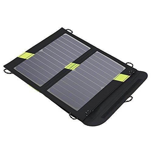 X-DRAGON Solar Ladegerät 14W 2-Port USB Outdoor Handy SunPower Solar Panel Ladegerät für Andriod Smartphone, Tablets, iPhone, iPad Samsung usw.