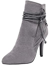 RAZAMAZA Damen Schuhe Klassischer Stiefel Winter Shoes (34 As, Black)