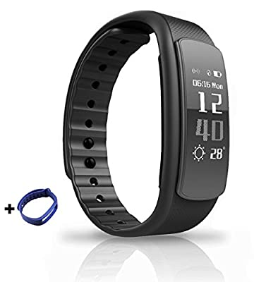 Fitness Tracker with Heart Rate Monitor -Smart Waterproof Bracelet