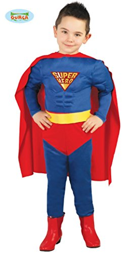 Guirca Super Hero Kostüm für Jungen Gr. 98-146, Größe:128/134 (Super Hero Kostüm Für Jungen)