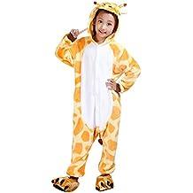 Moollyfox Pijamas Ropa de Dormir Disfraz de Animal Cosplay Para Niños Jirafa 125